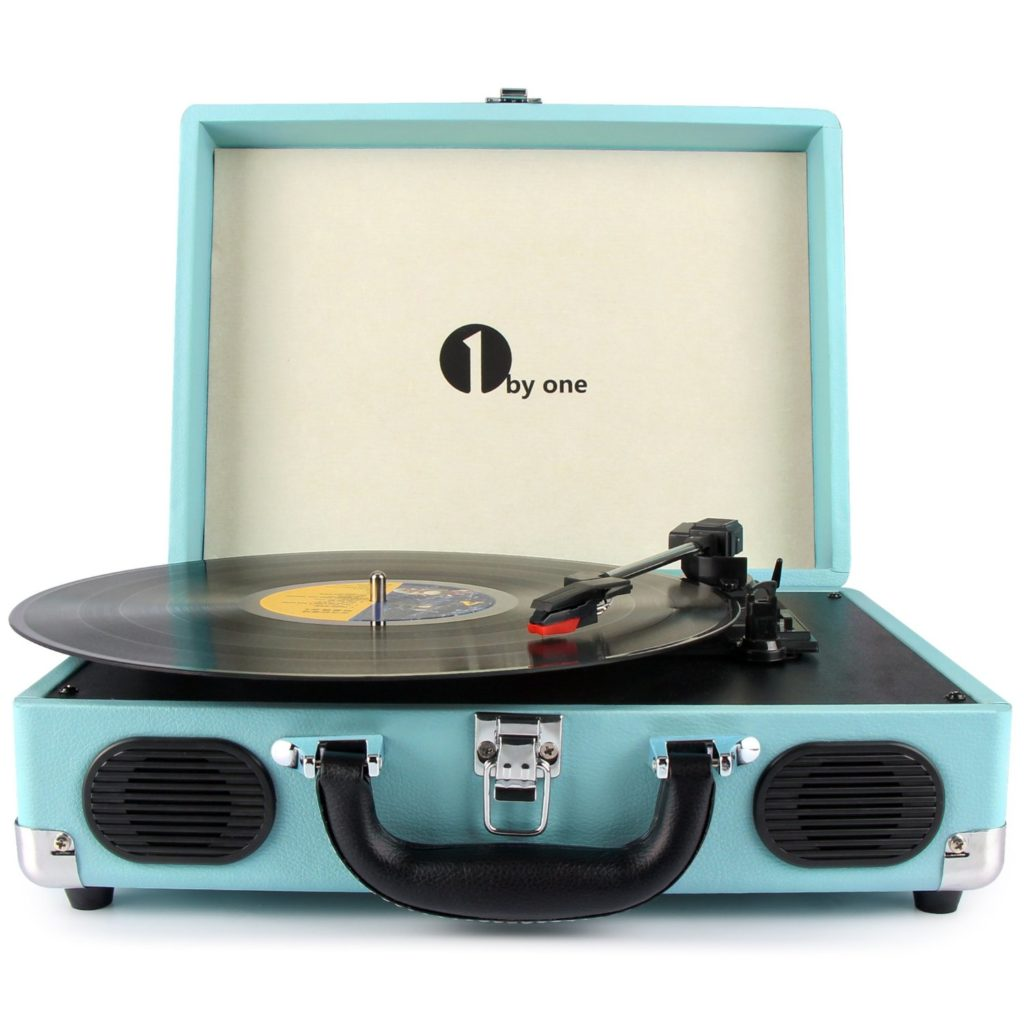 1byone best record player turntable portable