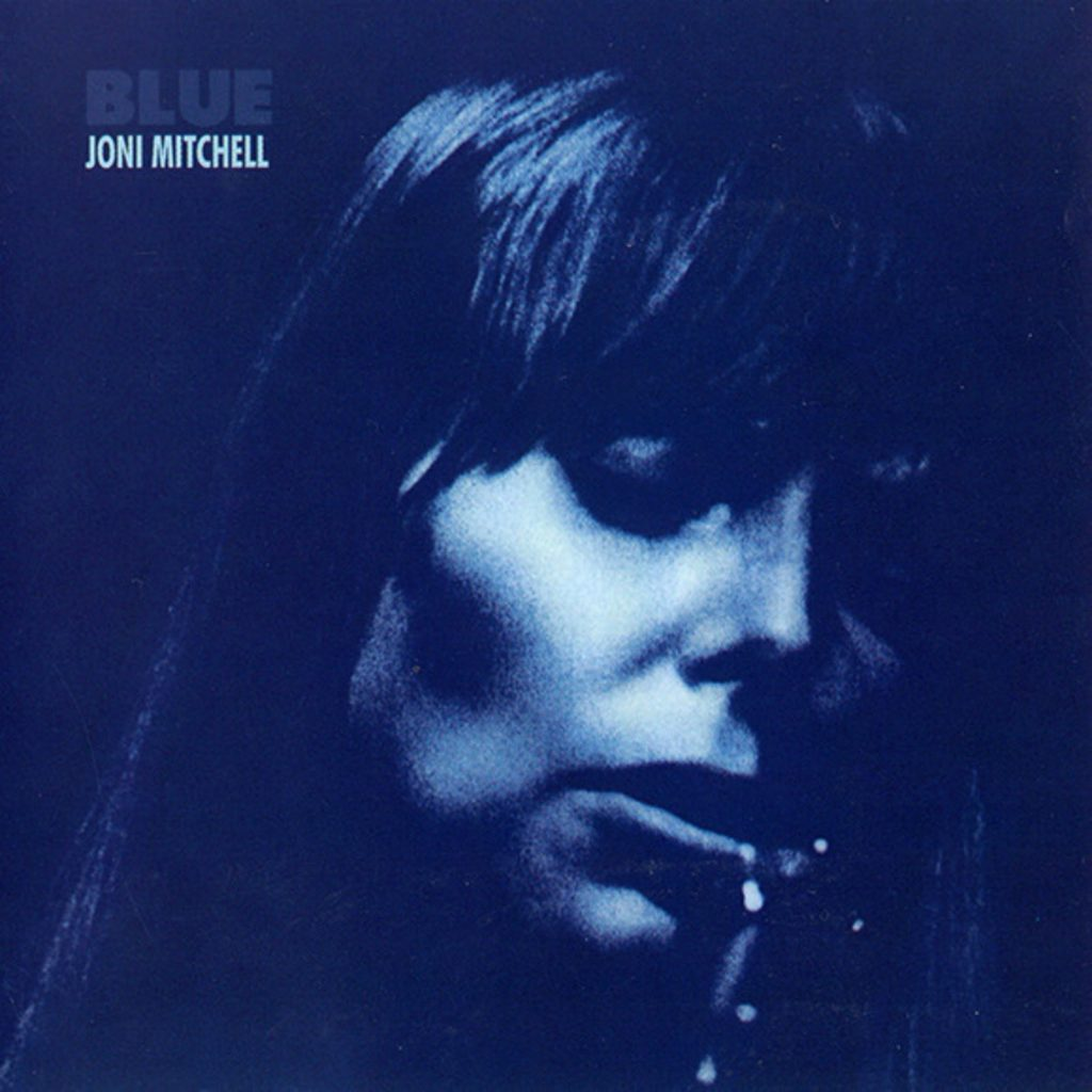 Joni Mitchell Blue best album vinyl cover artwork record player