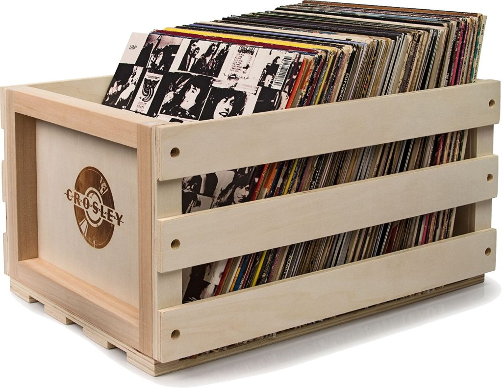 12 practical stylish record crates vinyl storage boxes. Black Bedroom Furniture Sets. Home Design Ideas