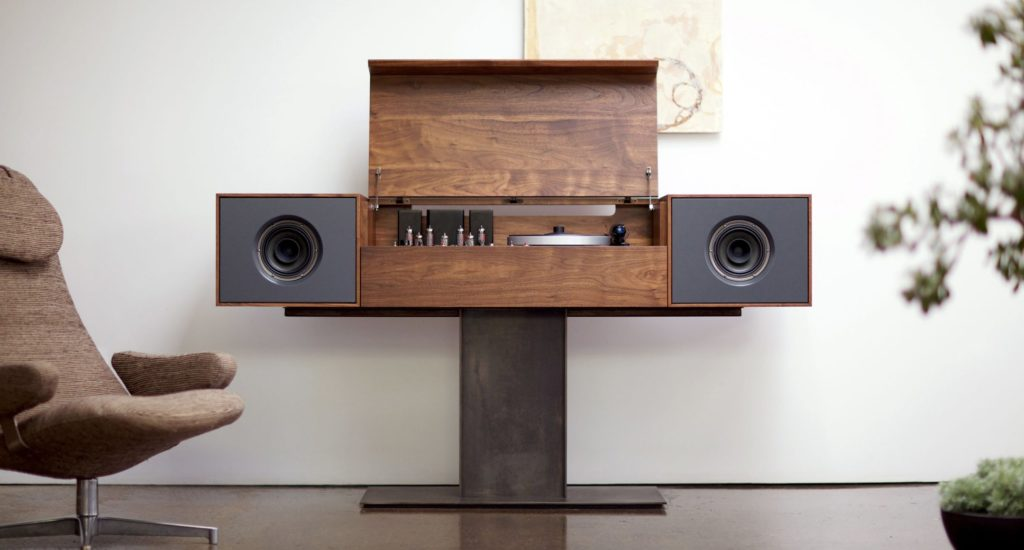 Modern Record Console By Symbol Audio Player Stand Cabinet